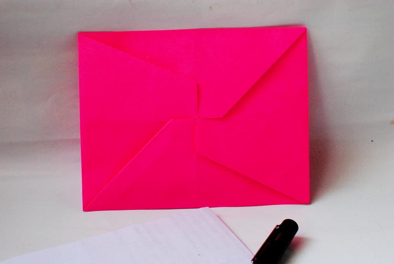 Letter Envelopes Pinwheel And Butterfly