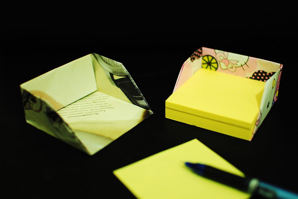 Post It Notes Container Romis Origami